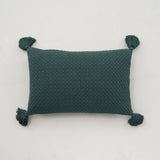 emerald green tassel pillow