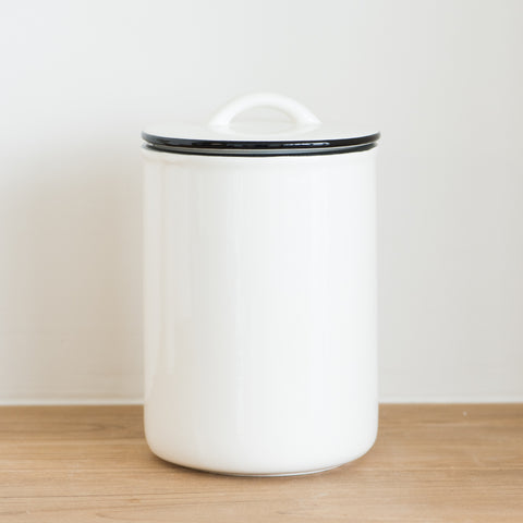 Ceramic Black Rim Large Canister
