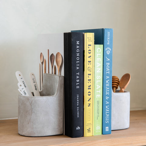 concrete vessel bookend set