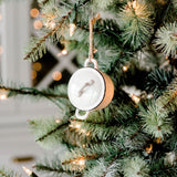 black-rimmed ceramic pot christmas ornament