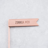 copper metal zinnia plant mix marker