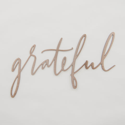 Copper Grateful Script Sign