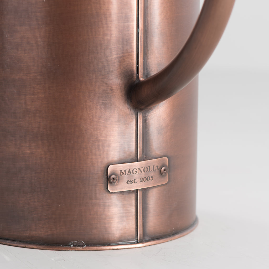 brushed copper watering can