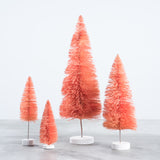 coral bottle brush christmas tree