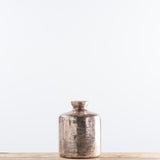 cylindrical glass copper vase