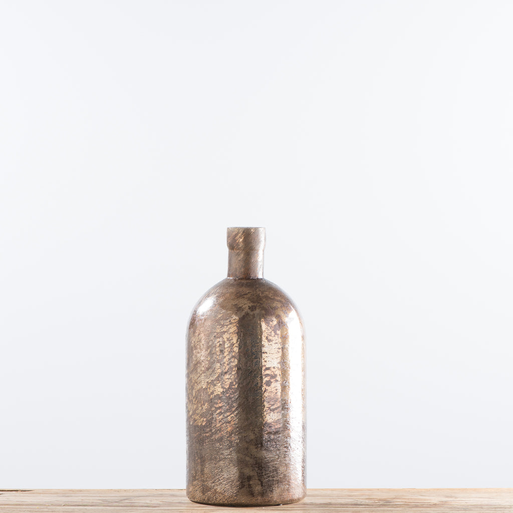 tall copper glass vase