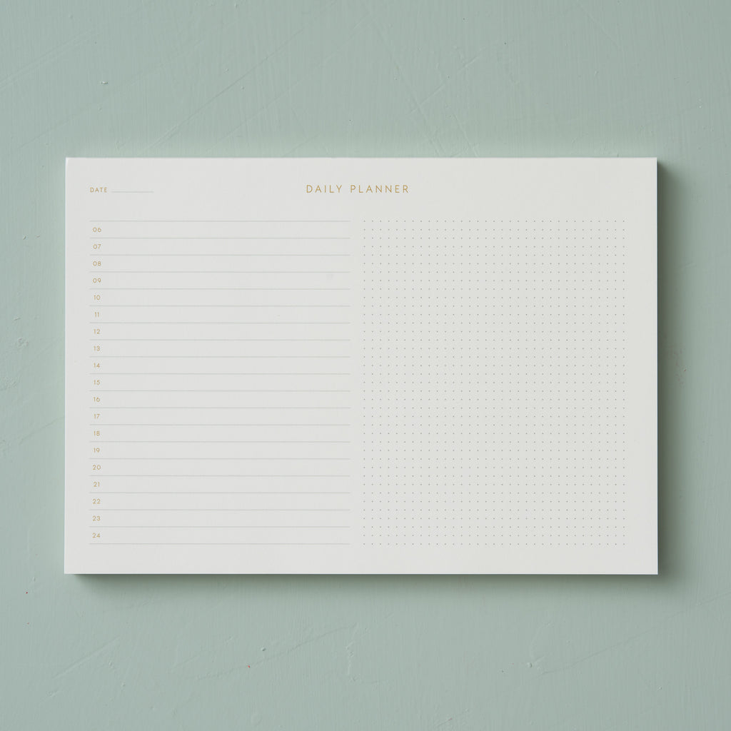 paper daily planner desktop notepad
