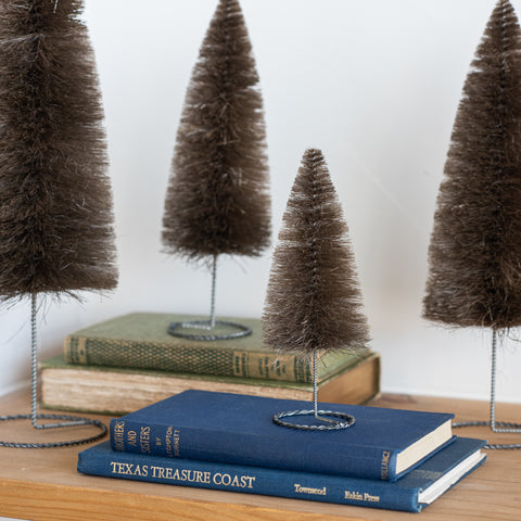 Silver Metal Stand Bottle Brush Tree