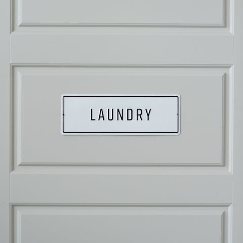 Embossed Metal Laundry Sign