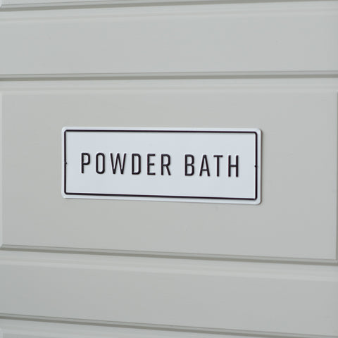 Embossed Metal Powder Bath Sign