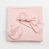 essential newborn bundle set for your newborn baby in pink