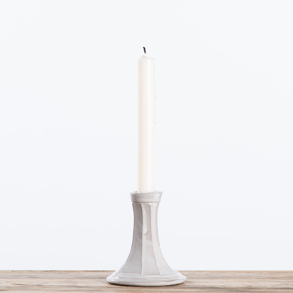faceted taper candleholder
