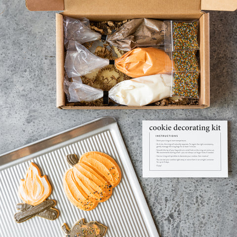 fall shortbread cookie decorating kit