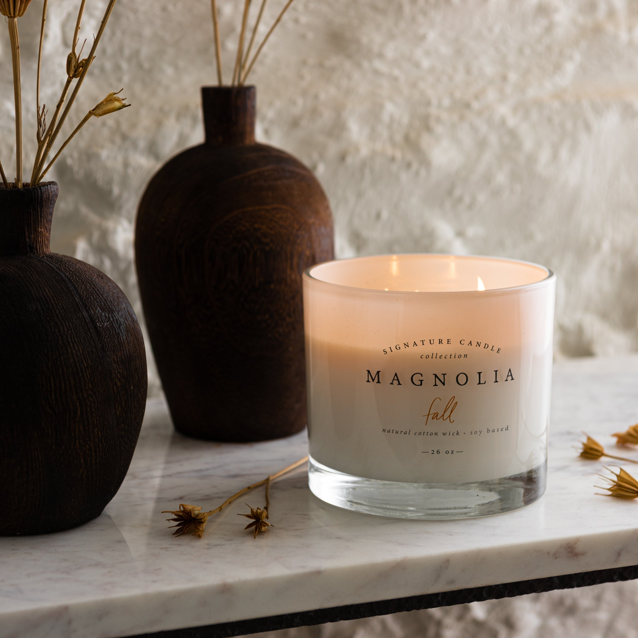 Fruity Floral Candle Peach Magnolia Scented Candle Fall Scented Candle Highly Scented Soy Candle Long Burning Candle Candle Gifts