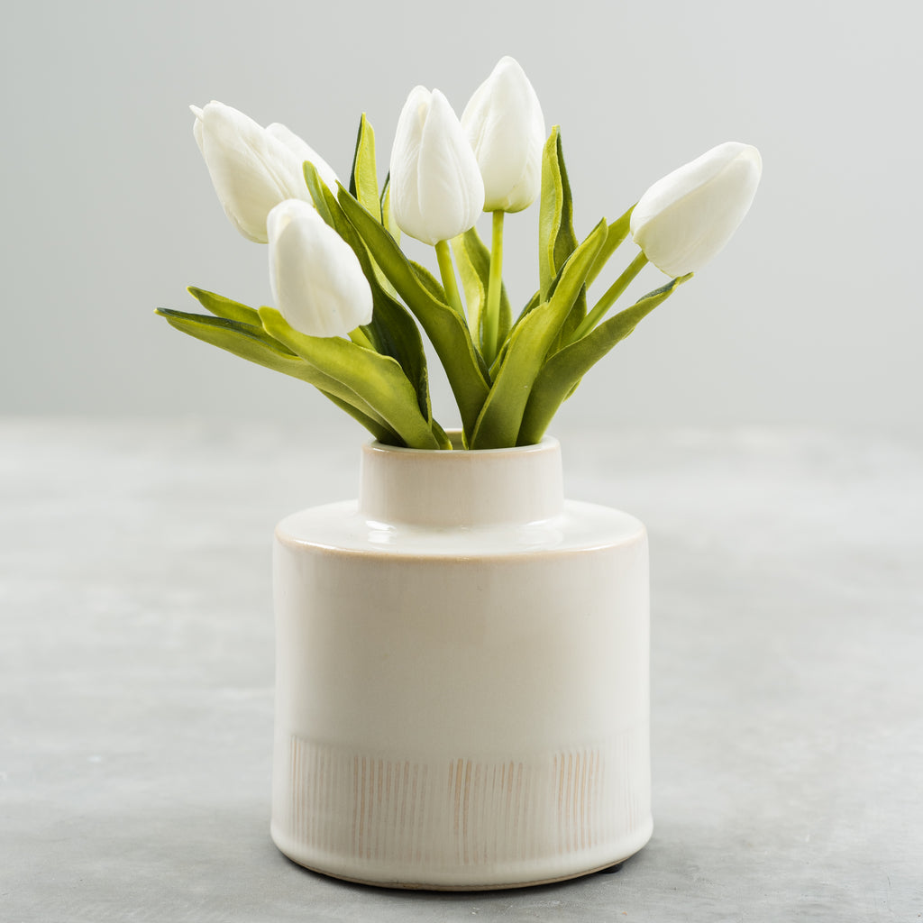 white faux tulip bundle
