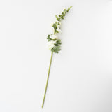 faux white hollyhock stem