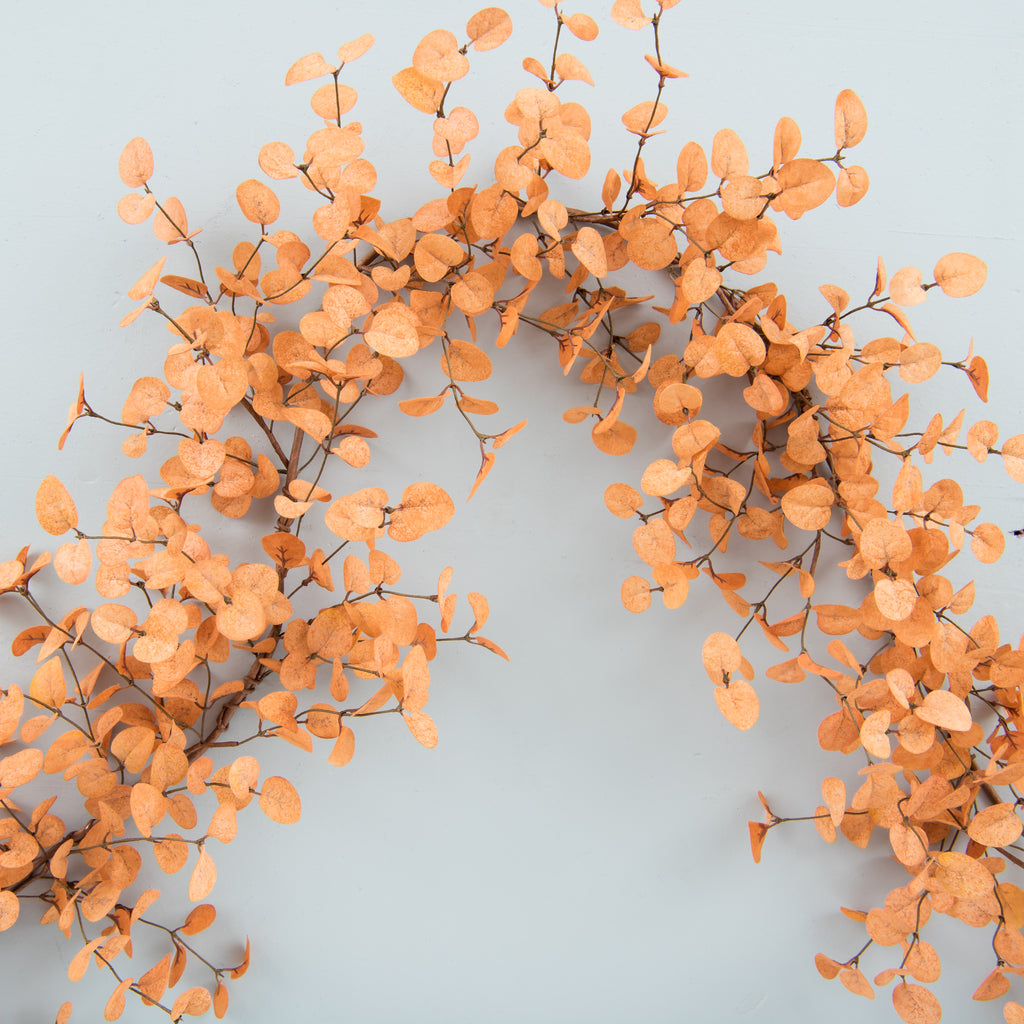 faux light sienna eucalyptus garland