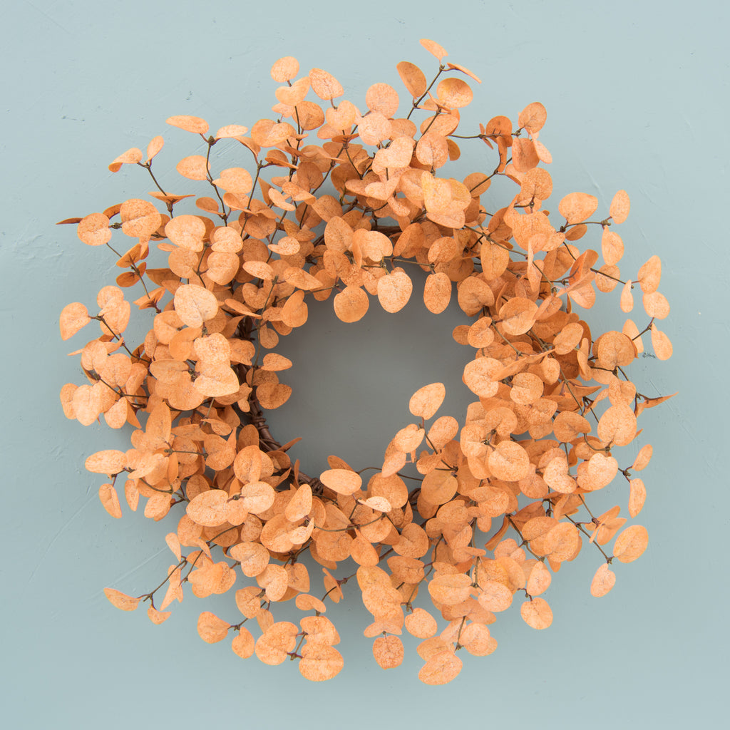 faux light sienna eucalyptus wreath
