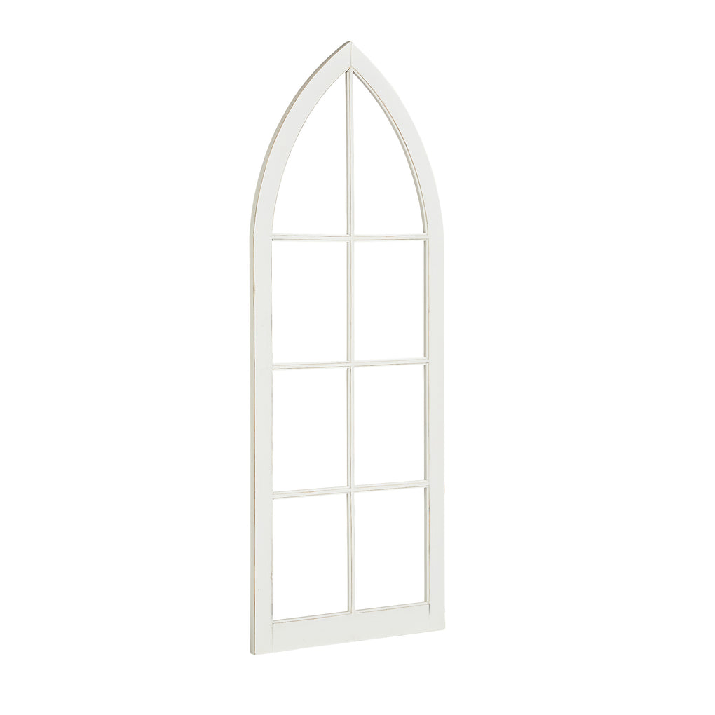 white wooden gothic style decorative window arch