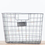 galvanized metal wire basket