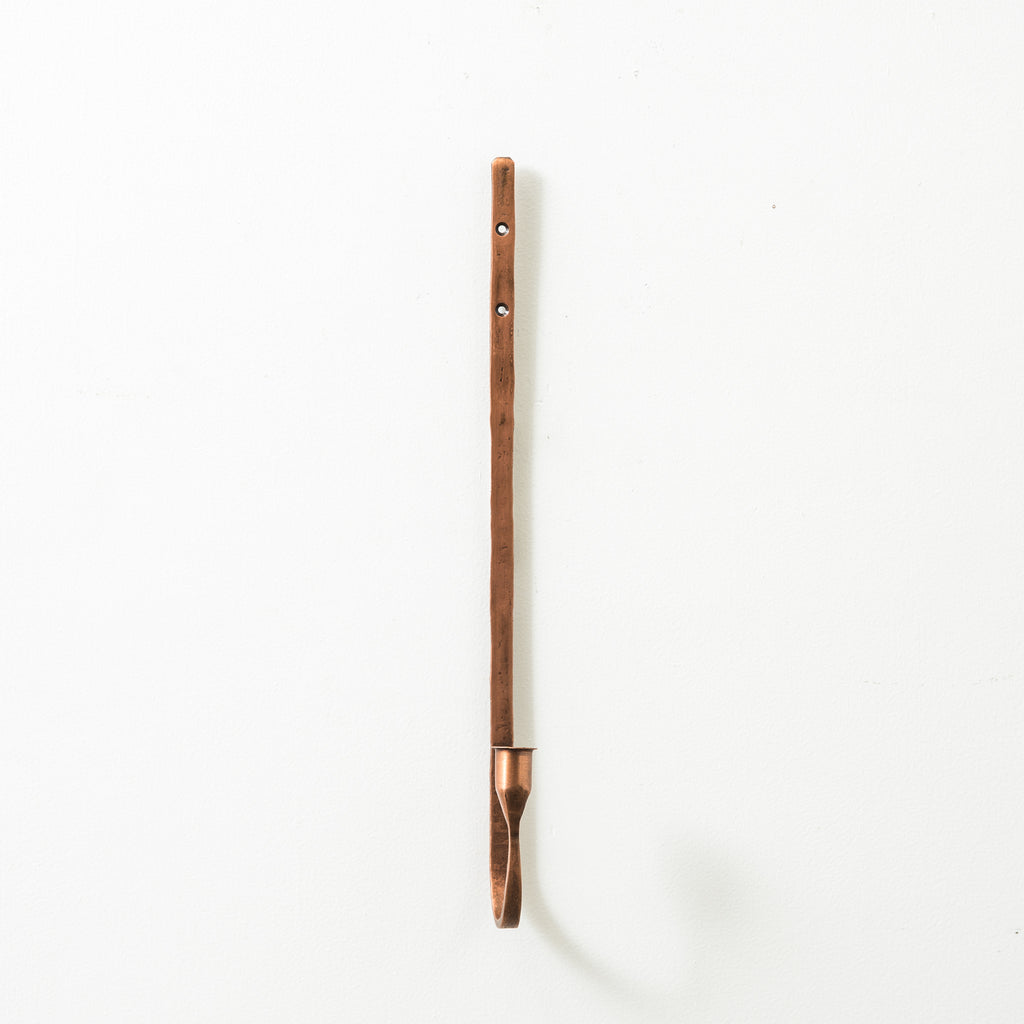 copper metal single candleholder sconce