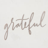grateful script metal sign