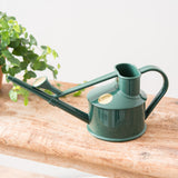 small plastic green watering can