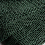 emerald green sweater style throw with tassels