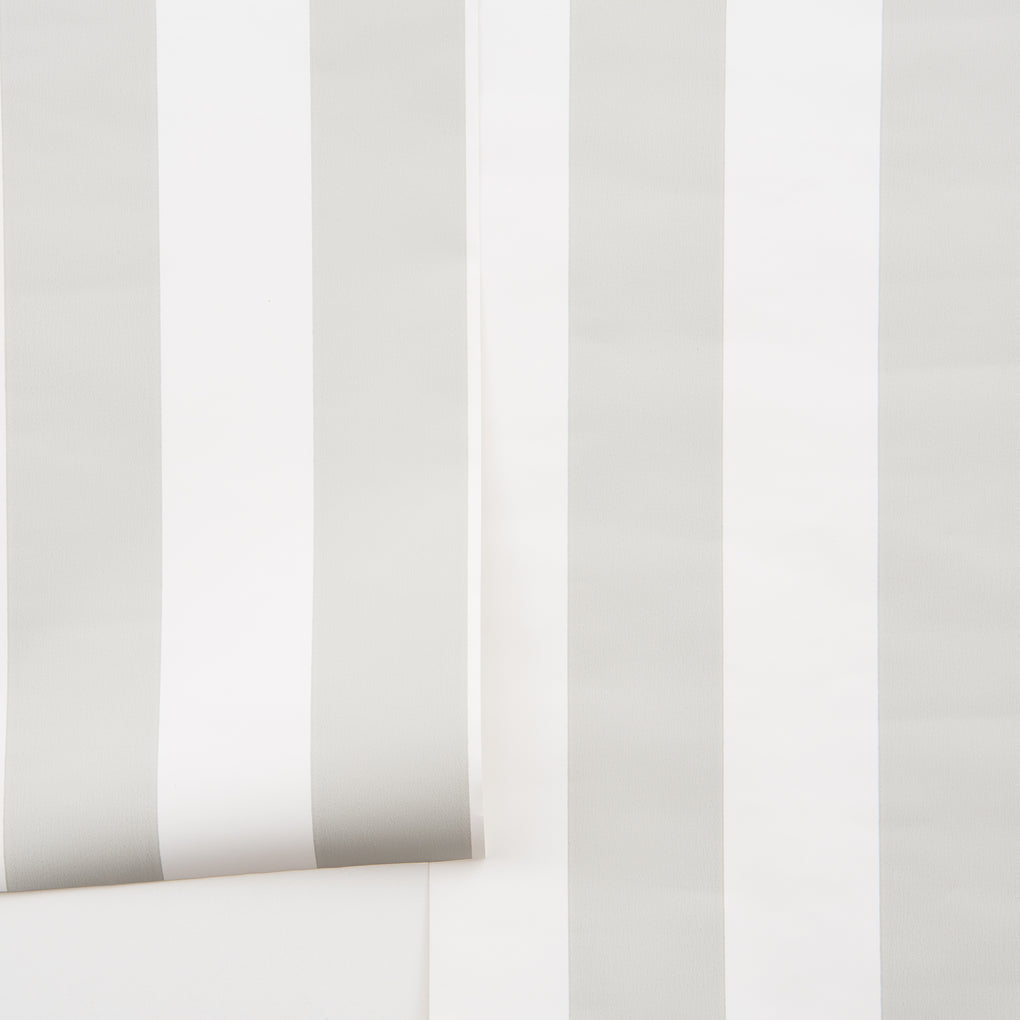 grey and white vertical stripe wallpaper