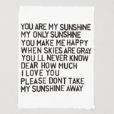 """you are my sunshine"" paper print"