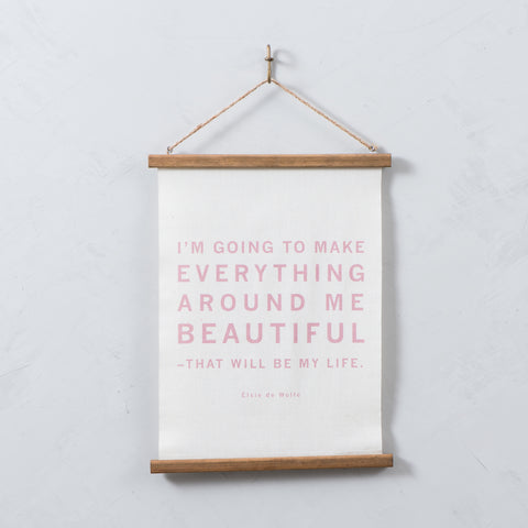"""Everything Around Me"" Hanging Wall Scroll"