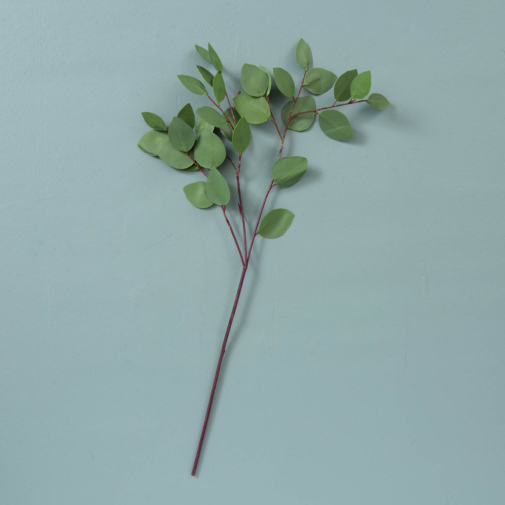faux heart eucalyptus stem