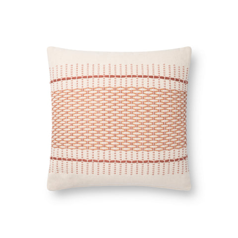 white square modern pillow with blush diamond pattern