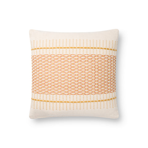 white square modern pillow with gold diamond pattern detail