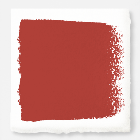 Bright red with flame orange notes exterior paint