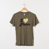 Green I love plants shirt