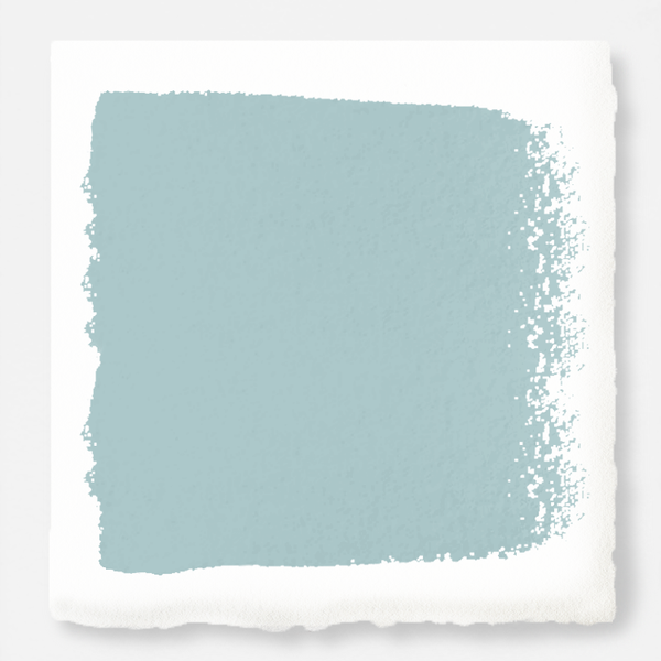 A sky blue muted with shades of gray exterior paint
