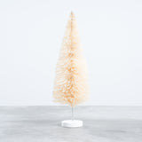 ivory bottle brush christmas tree