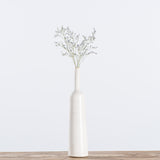 tall tapered white ceramic vase
