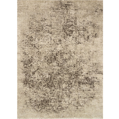 distressed tan and brown area rug