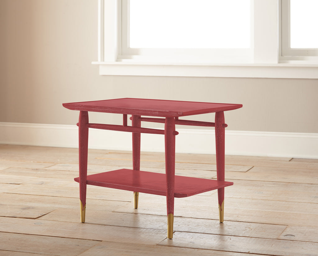 tomato red chalk paint