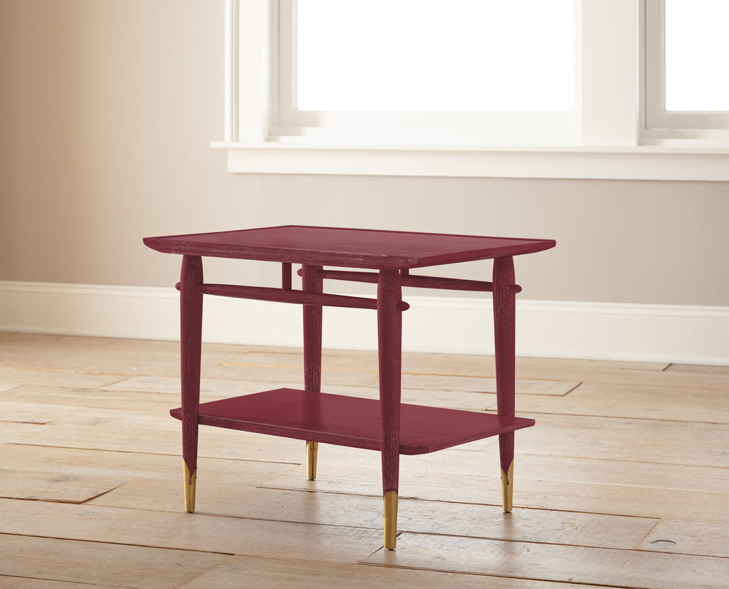 deep red chalk paint