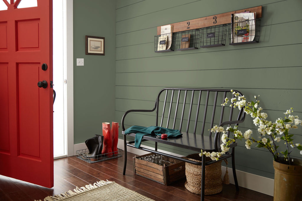 Delicieux A Dusty Olive Green Interior Paint