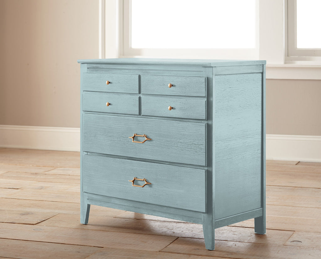 sky blue with grey undertone chalk paint
