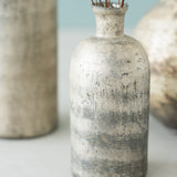 distressed metallic glass vase