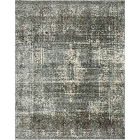 distressed grey-blue rug