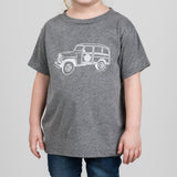 grey kids magnolia truck shirt