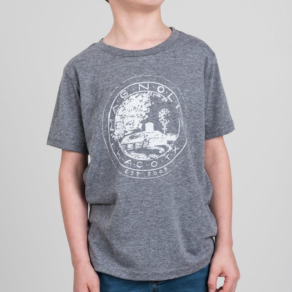 grey kids magnolia seal shirt