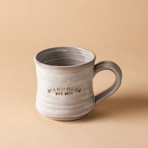 grey ceramic magnolia mug