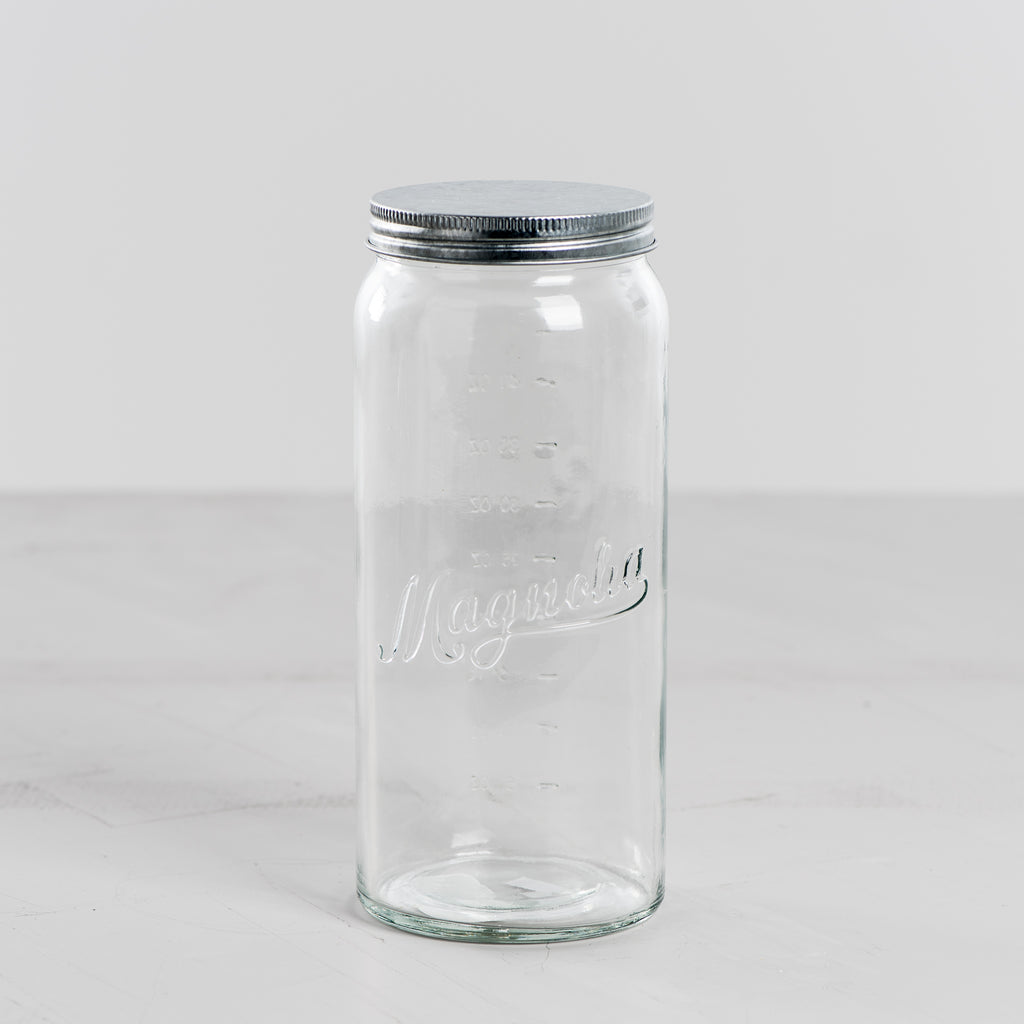 magnolia glass measuring jars with lid